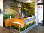 Interior design mural reception area 1000