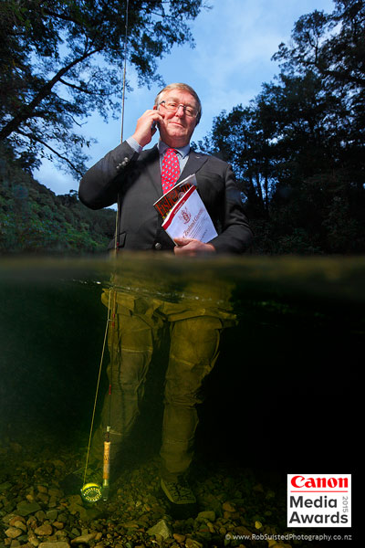 Bryce Johnson, CEO Fish & Game Council. Canon Media Award winning portrait by Rob Suisted