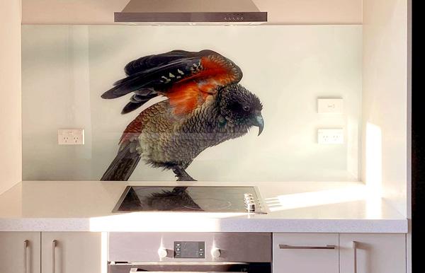 Kitchen Splashback of kea Bird, by Rob Suisted