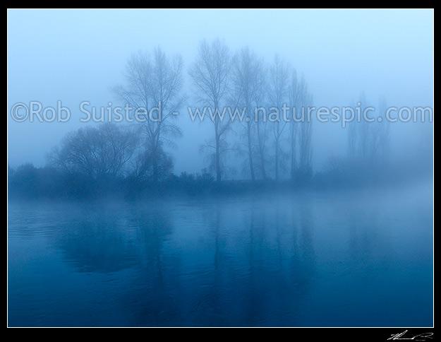 Waikato River, Winter foggy morning