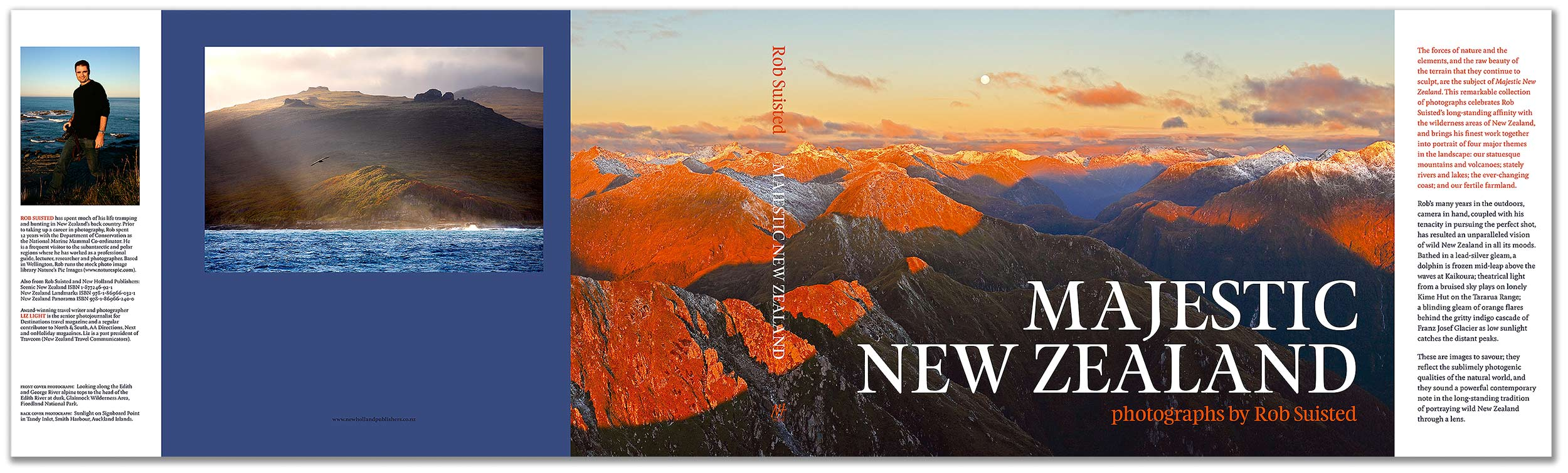 Book Covering Nz : Coffee table book of new zealand by rob suisted well