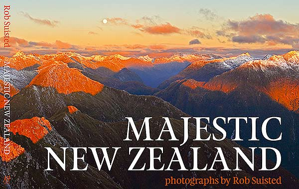 Majestic New Zealand book cover, by Rob Suisted