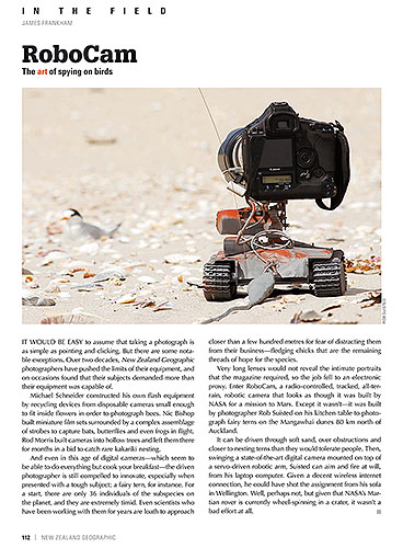 New Zealand Geographic RoboCam article