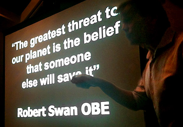 Robert Swan's final message to us