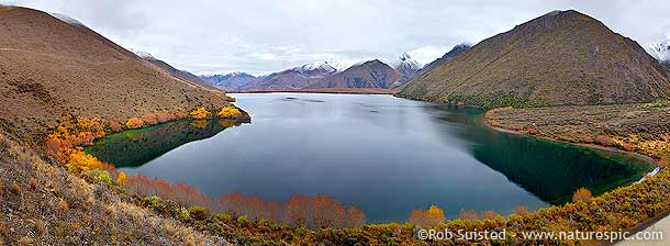 A peaceful Lake McRae, Molesworth Station, NZ