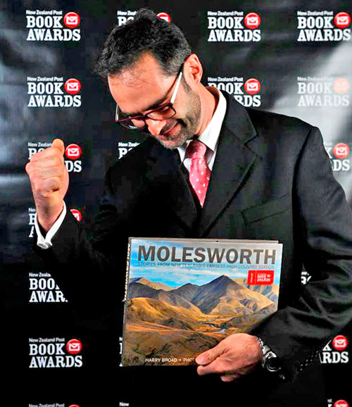 Molesworth Book wins prestiguous award at NZ Post Book Awards 2014