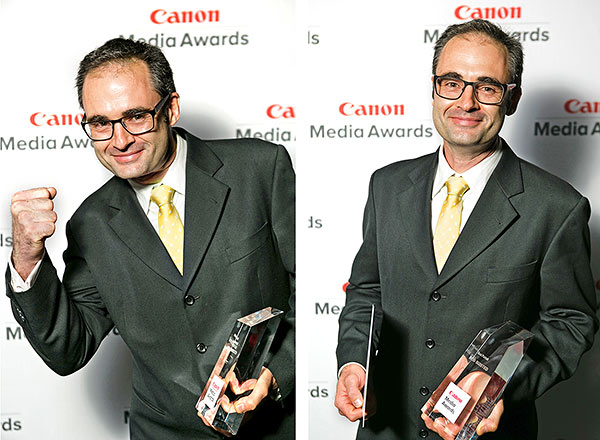 Happy photographer! Best published portrait in media - 2015