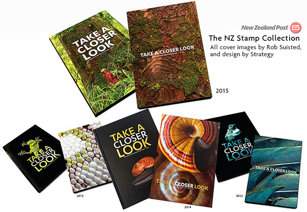 NZ Post's The NZ Collection, annual stamp book covers by Rob Suisted